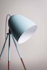 Table lamp in turquoise colours.