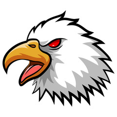 Angry Eagle Head Mascot. Vector Illustration