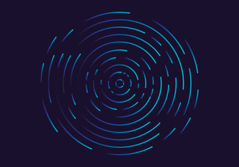 Abstract geometric vortex, Circular swirl lines, fingerprint. Vector illustration