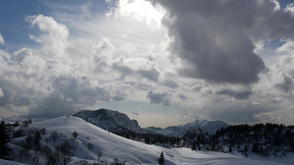 Valsassina panorama invernale
