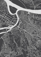 Belgrade city plan, detailed vector map