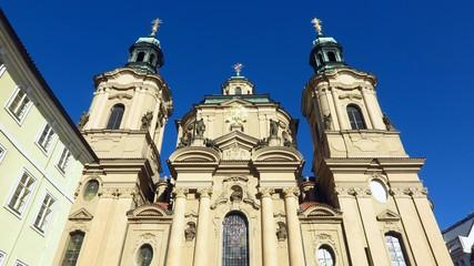 Prague St. Nicholas Church in Old Town Square