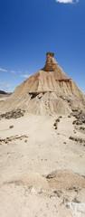 The desert of the bardenas reales in navarra