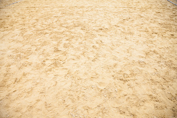 Sandy land filled with footprint. From the tread of the foot of man.