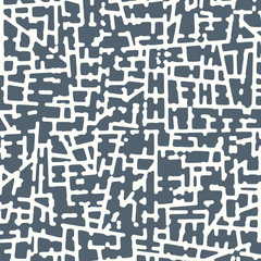 Abstract grunge vector background. Monochrome squared raster composition of irregular graphic elements.