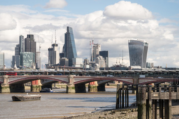 City of London skyline from near Southwark Bridge