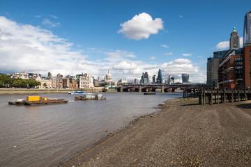 London City Skyline near Southwark Bridge