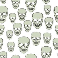 Cartoon skul pattern