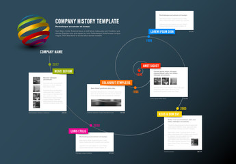Spiral Timeline Infographic  Layout 1