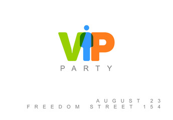 VIP Party Invitation or Flyer Layout 1
