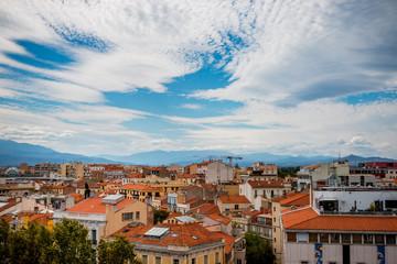 Vue sur la ville Perpignan depuis le haut du Castillet