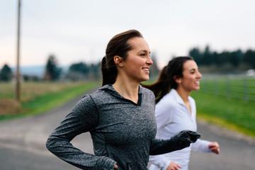 Running Women Jogging in Country Wall mural