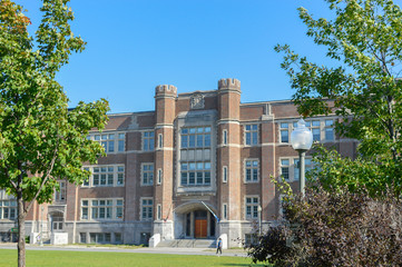 Westmount Park Elementary School building. Exterior view of school.