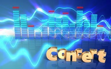 3d concert sign concert sign