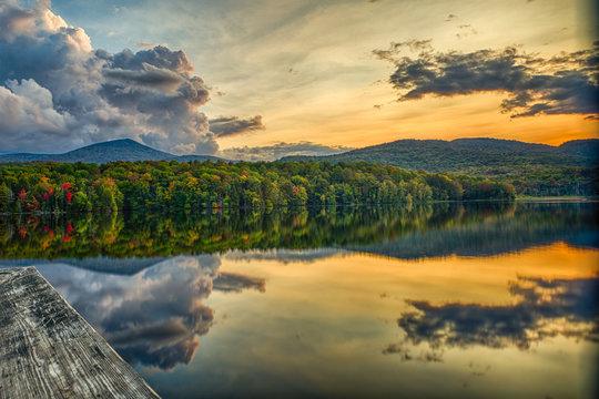 Sunset at Kent Pond, Killington VT