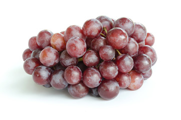 ripe grape isolate on white background