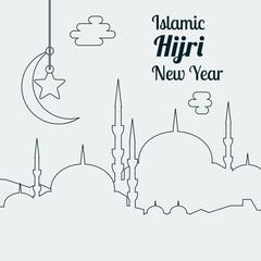 Islamic Hijri New Year Vector Illustration for Text Background