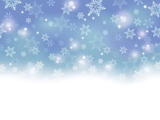 雪の背景 青