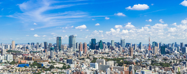 東京都市風景 パノラマ