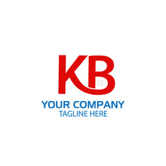 Creative Letter K and B Logo design