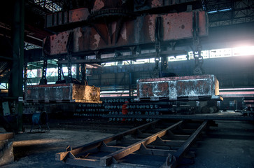 Cooled steel in iron-works