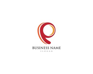 P Letter Logo Business Template Vector icon