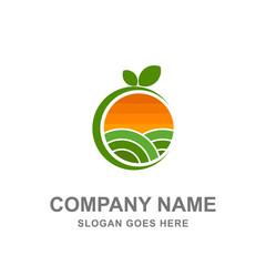 Farm Nature Green Garden Logo Icon Vector