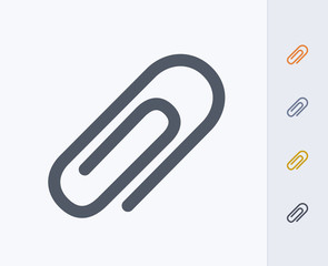 Paperclip - Carbon Icons. A professional, pixel-aligned icon  designed on a 32x32 pixel grid and redesigned on a 16x16 pixel grid for very small sizes.