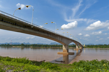 The Third Thai–Lao Friendship Bridge over the Mekong River connecting Nakhon Phanom Province in Thailand with Thakhek, Khammouane Province in Lao PDR.