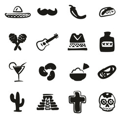 Mexican Culture  Icons Freehand Fill