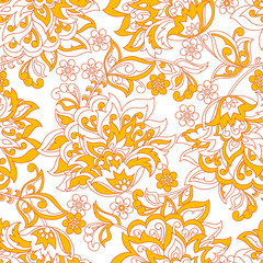 vintage pattern with beautiful flowers. floral vector background