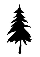 Christmas tree vector with highly details