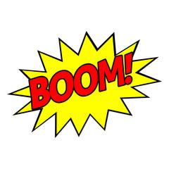 Pop art Boom! Vector illustration.