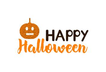 Happy Halloween - creative text and pumpkin