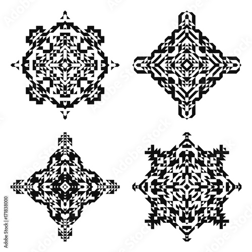 Navajo tattoo designs Friendship Symbol Meaning Navajo Square Shapes Black And White Boho Ornaments Isolated Aztec Patterns Print Concept Tattoos Designs And Ideas Navajo Square Shapes Black And White Boho Ornaments Isolated Aztec