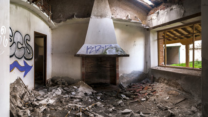 View of a abandoned house