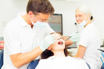 Young Woman Seeing Her Dentist