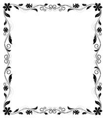 Retro Floral Frame Design Background