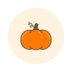 cartoon pumpkin icon