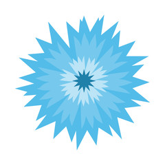 Blue flower cornflower isolated on white background. Cartoon vector centaurea cyanus illustration