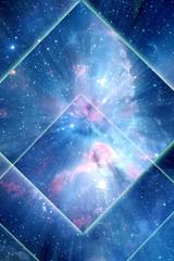 Wall Mural - Magic, esoteric, spiritual background with stars, galaxy
