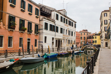 Street and cannal of Venezia