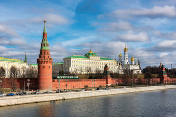 Moscow Kremlin in the autumn at sunny day, Moscow , Russia.