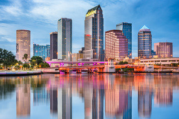 Tampa Bay, Florida, USA Skyline Fototapete