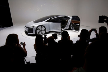 An Aicon concept car is pictured at a stand of German car manufacturer Audi at the Frankfurt Motor Show (IAA) in Frankfurt