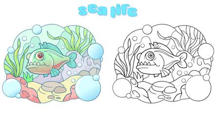 cute cartoon piranha funny picture