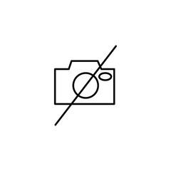 no camera linear icon