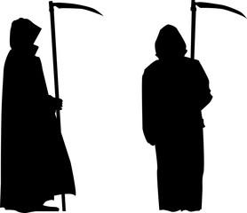 Grim reaper silhouette