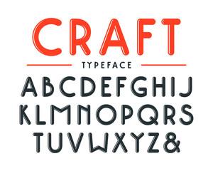 Decorative sanserif bulk font with rounded corners