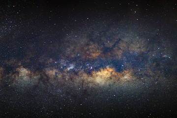 The galactic centre of the Milky way with stars and space dust in the universe